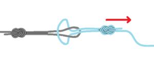 チチワ結び道糸とハリスヨリモドシの結び方4