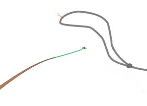 チチワ8の字結びのべ竿結び方