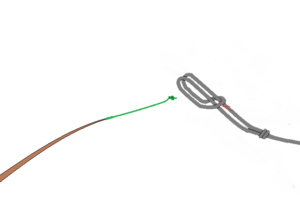 チチワ8の字結びのべ竿結び方4