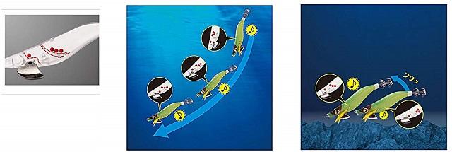 SHIMANO(シマノ) エギ セフィア クリンチ カエル跳びアッパー ラトル QE-J25S 010 トリコロール 2.5号