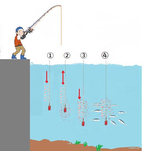 堤防サビキ釣り釣り方 下カゴタイプ