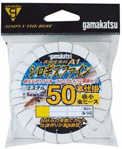 がまかつ(Gamakatsu) シロギスファイン50本仕掛(極小金ビーズ付) N140 4号-ハリス0.8. 45706-4-0.8-07