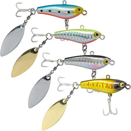【オルルド釣具】 ジグスピナー 実績の爆釣カラースペシャル ルアー セット 4個