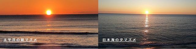 太平洋の夕マズメ・日本海の夕マズメ