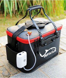INFILILA フィッシュバッカン 折りたたみ 釣り バケツ EVA製 コンパクト 釣り袋 40cm アウトドアに最適