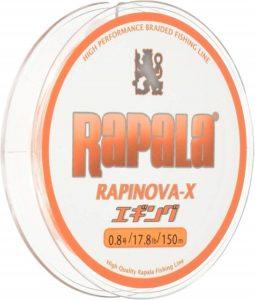 Rapala(ラパラ) PEライン ラピノヴァX エギング 150m 4本編み ホワイト/オレンジ RXEG150M