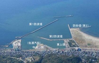 寺泊港 航空写真
