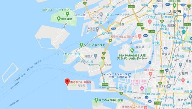大阪南港魚つり園 地図