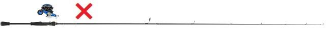 スピニングロッドロッドと両軸リールの組み合わせ