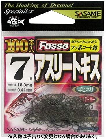 ささめ針(Sasame) 22ZAS アスリートキス (TCフッ素コート) 100本入り #7
