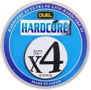 DUEL(デュエル) HARDCORE(ハードコア) PEライン HARDCORE X4 0.4号~4.0号 マーキングシステム-10m×5色