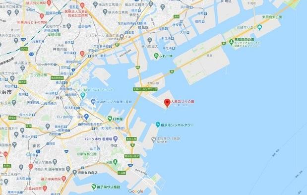 大黒海づり公園グーグルマップ