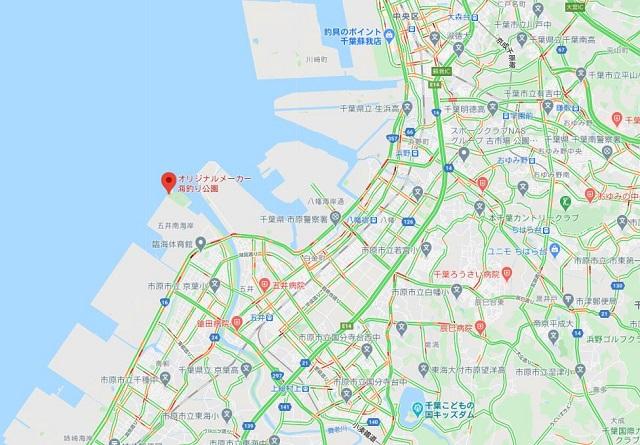 市原海釣り公園(オリジナルメーカー海づり公園)グーグルマップ