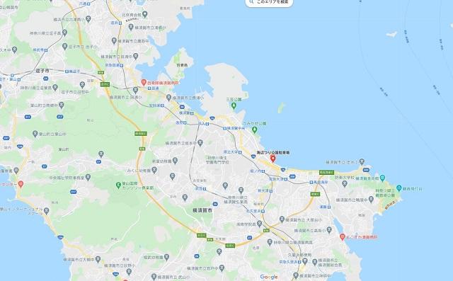横須賀海辺つり公園グーグルマップ