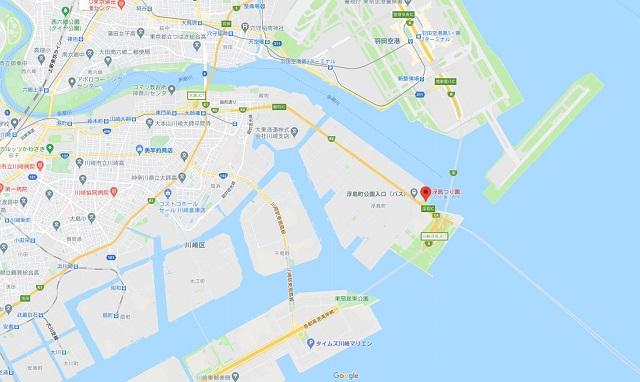 浮島つり園グーグルマップ