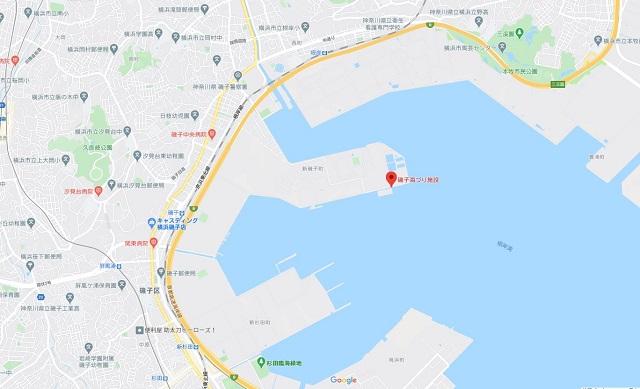 磯子海づり施設グーグルマップ