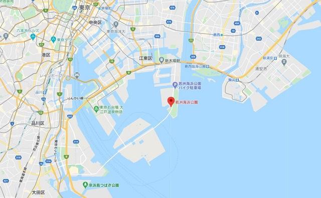 若洲海浜公園グーグルマップ