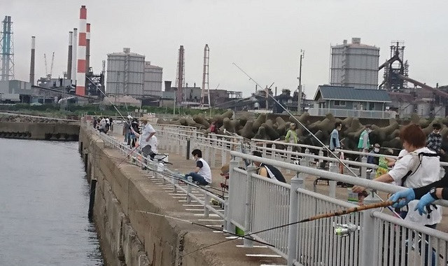 鹿島港魚釣園(茨城県鹿嶋市)