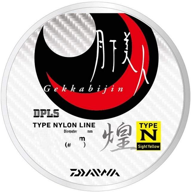 ダイワ(DAIWA) ライン 月下美人 TYPE-N 煌 150m 3lb (0.8号) サイトイエロー