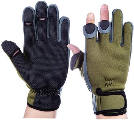 釣り手袋 釣りグローブ 指切り 指3本出す フィッシング グローブ 滑り止め 防寒 手袋 調節可能