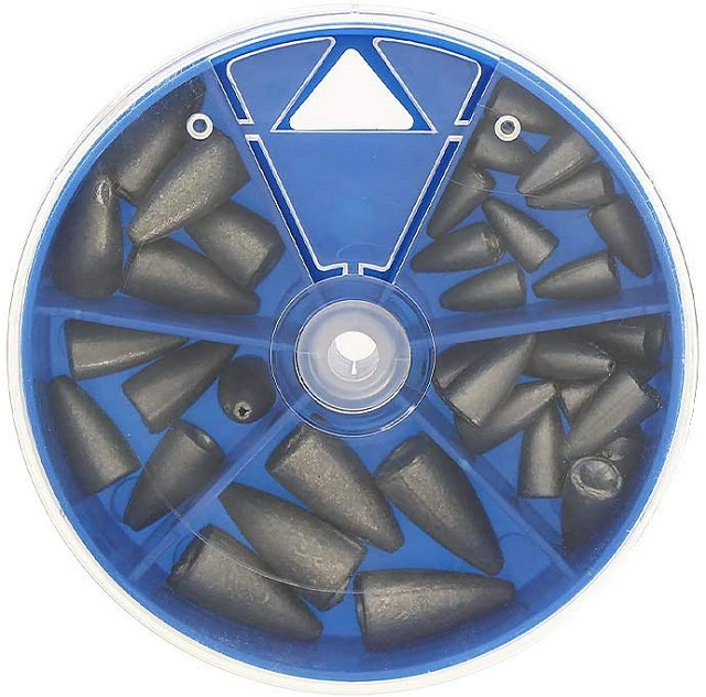 Croch ワームシンカー バレットシンカー セット 弾丸型 25個セット 5サイズ入