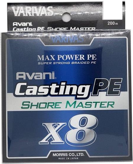 VARIVAS(バリバス) PEライン アバニ キャスティングPE マックスパワー X8 ショアマスター 200m 8本 ホワイト