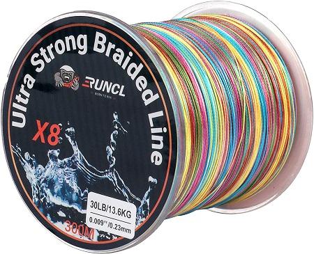 ランケル(RUNCL)高強度 PEライン 釣り糸 8編 5色 マルチカラー