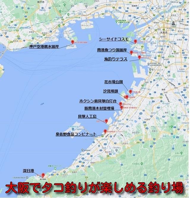 大阪でタコ釣りが楽しめる釣り場