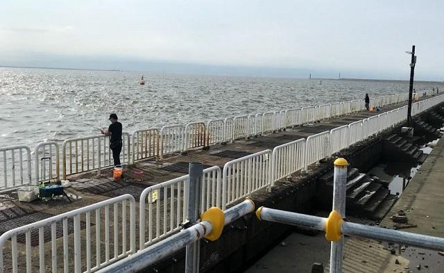 大阪南港魚釣り園護岸