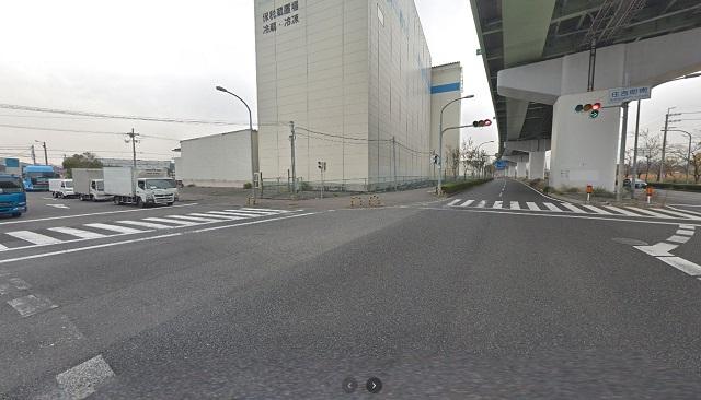 泉佐野食品コンビナート(和歌山側)交差点1