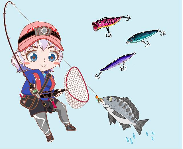 釣りガール チニング トップウォータールアー