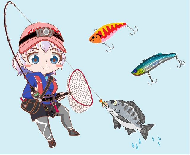 釣りガール チニング バイブレーション