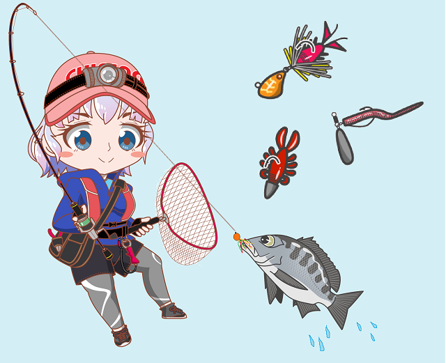 釣りガール チニング ルアー